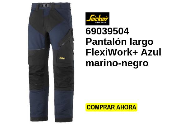 Pantalón largo flexiwork azul marino negro