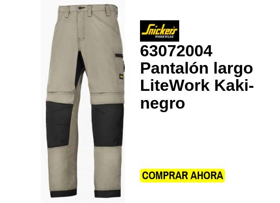 Pantalón largo litework kaki negro