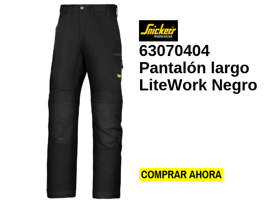 pantalón largo litework negro