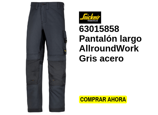 pantalón largo allroundwork gris acero